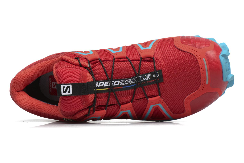 Sportschuhe Salomon Speedcross 4 Gtx W rot ansicht von links