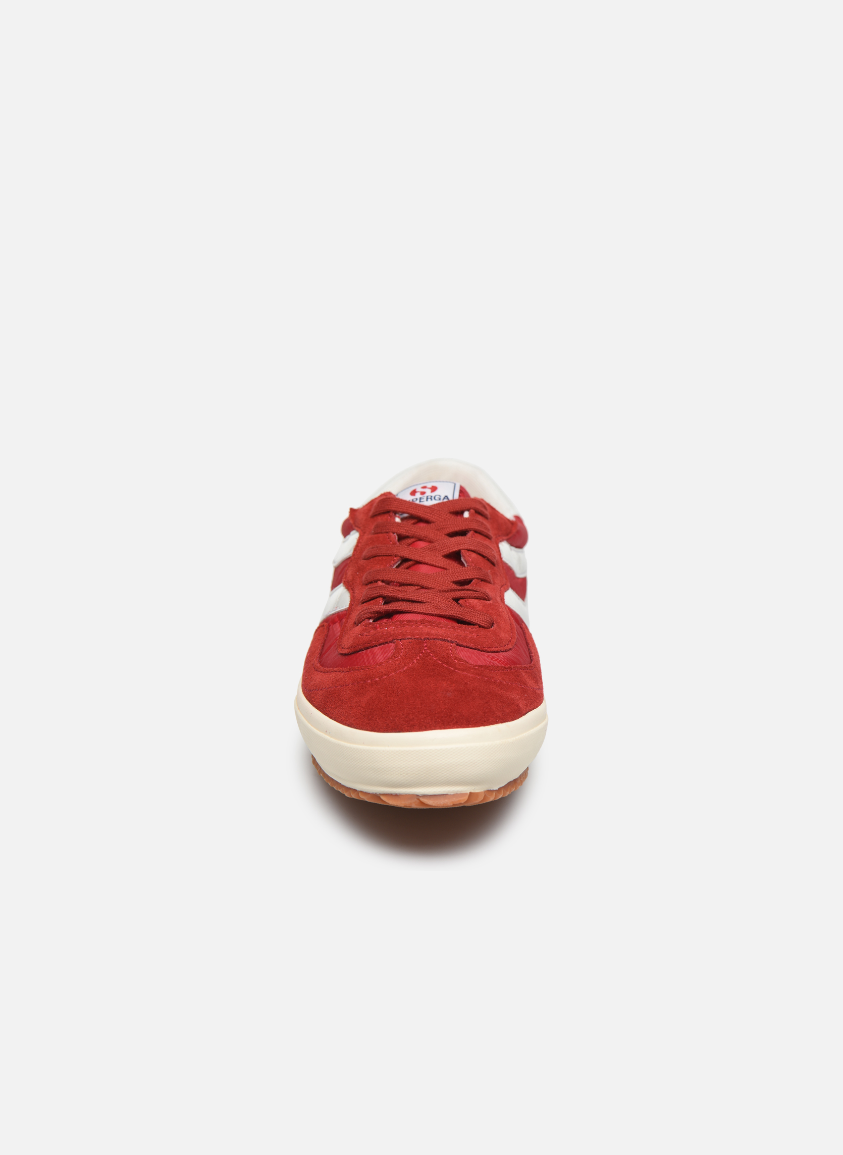 Baskets Superga 2832 Nylu Rouge vue portées chaussures