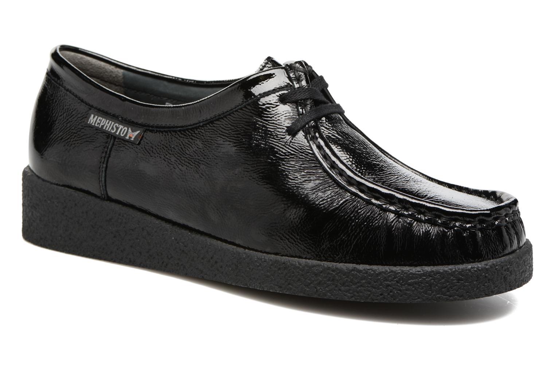 Chaussures à lacets Mephisto Christy Noir vue détail/paire