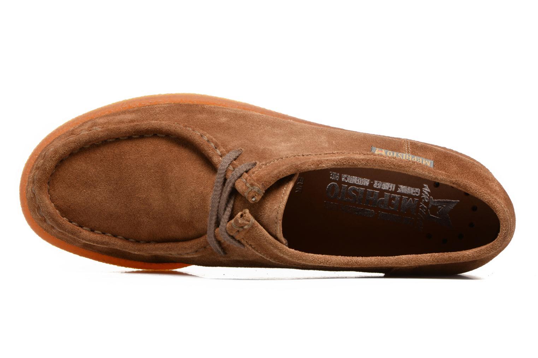 Chaussures à lacets Mephisto Christy Marron vue gauche