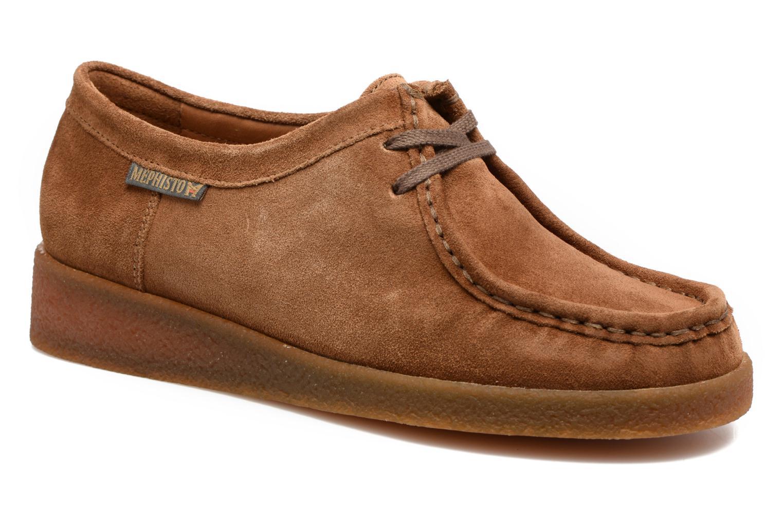 Chaussures à lacets Mephisto Christy Marron vue détail/paire