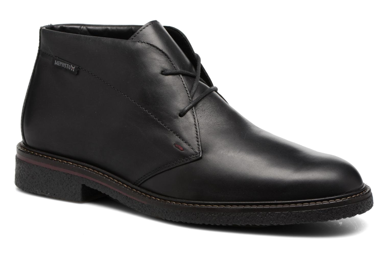 Chaussures à lacets Mephisto Gerald Noir vue détail/paire