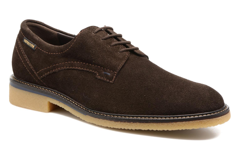 Chaussures à lacets Mephisto Gianni Marron vue détail/paire