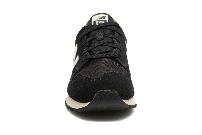 Baskets New Balance U520 Noir vue portées chaussures