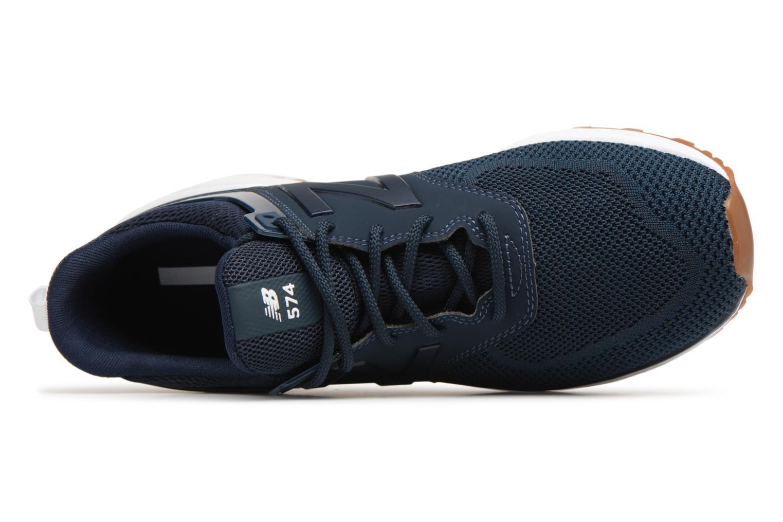 Baskets New Balance MS574 Bleu vue gauche