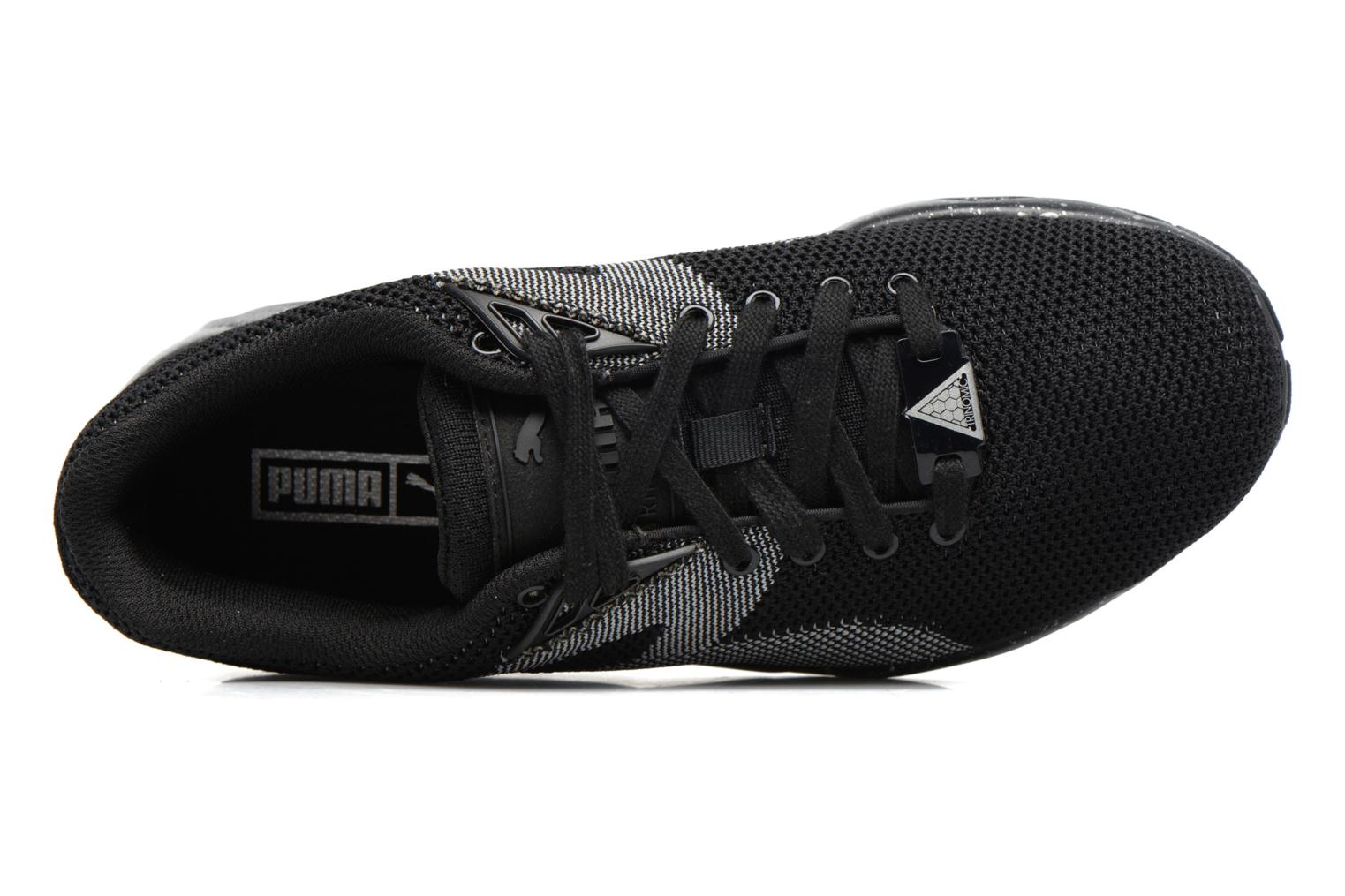 Sneakers Puma Trinomic R698 Knit Speckle W Zwart links