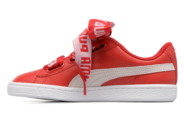Baskets Puma Wns Basket Heart De Rouge vue face