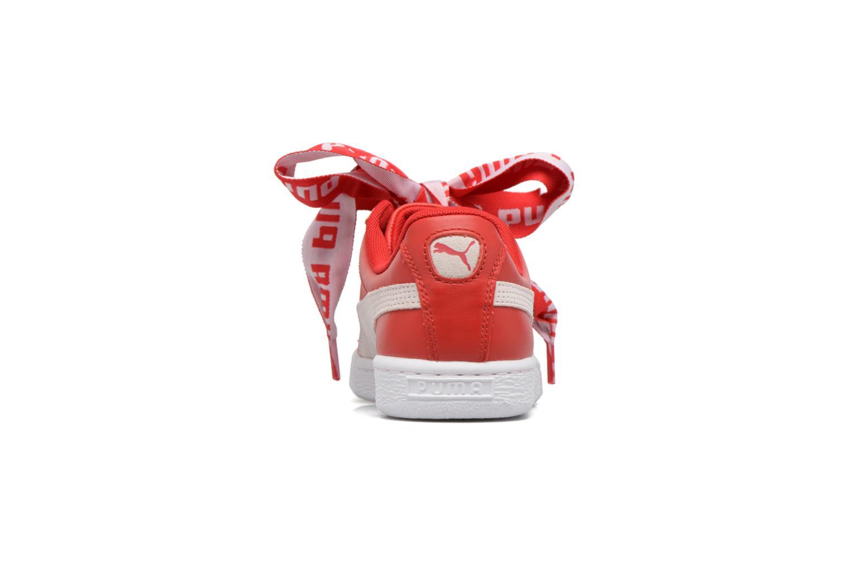 Baskets Puma Wns Basket Heart De Rouge vue droite