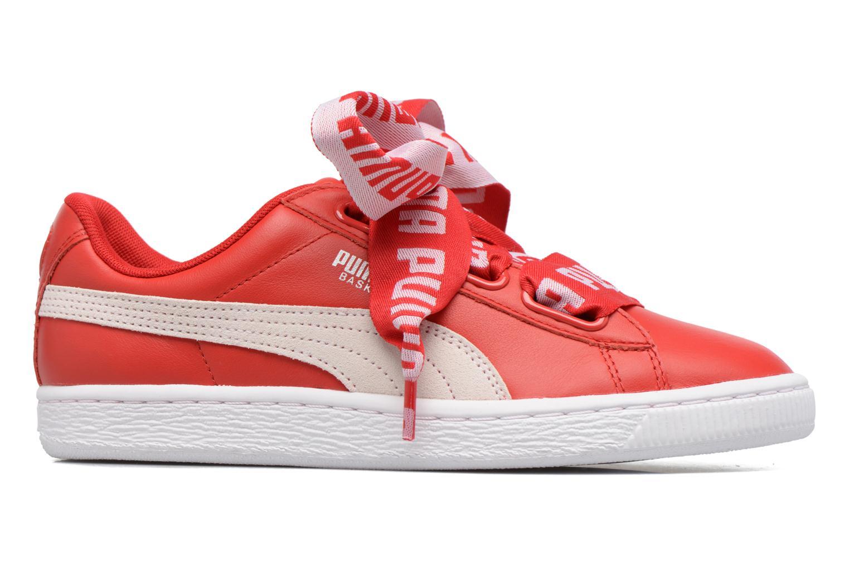 Baskets Puma Wns Basket Heart De Rouge vue derrière