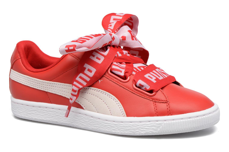 Baskets Puma Wns Basket Heart De Rouge vue détail/paire