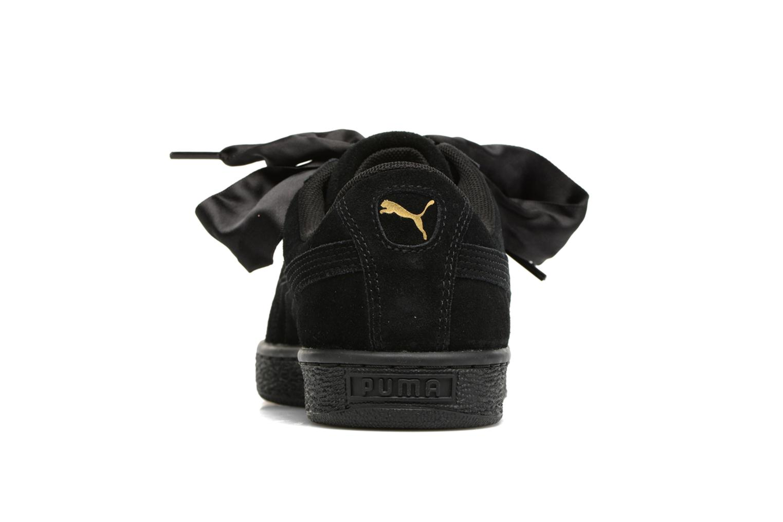Baskets Puma Wns Suede Heart Satin II Noir vue droite