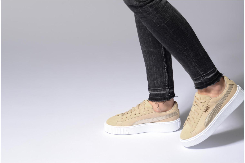 Sneakers Puma Wns Basket Platform Safa Beige onder