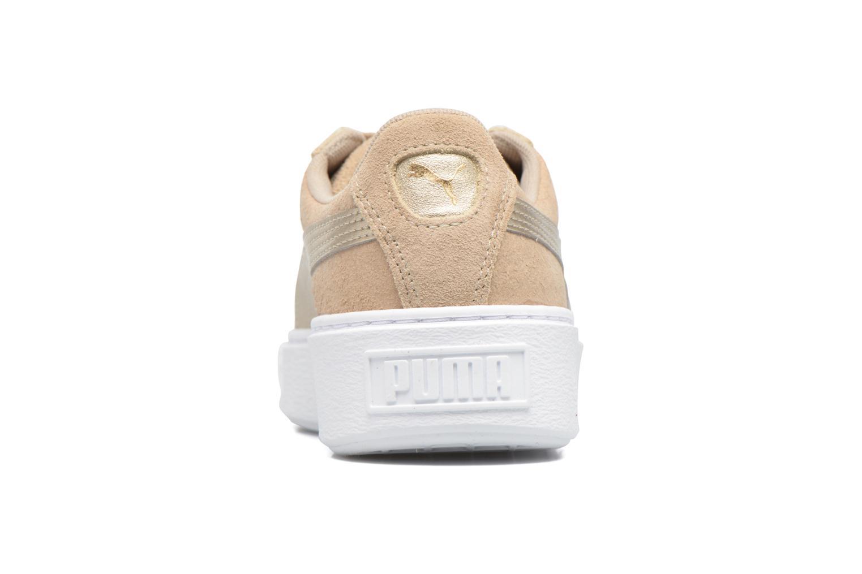 Sneakers Puma Wns Basket Platform Safa Beige rechts