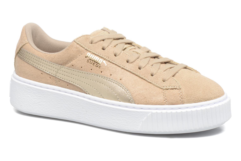 Sneakers Puma Wns Basket Platform Safa Beige detail