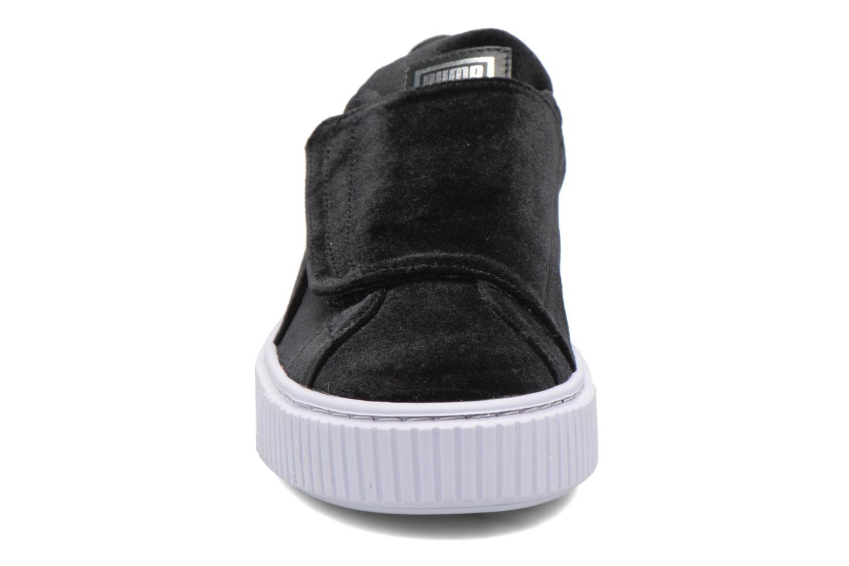 Sneakers Puma Wns Basket Platform S Vr.O Nero modello indossato