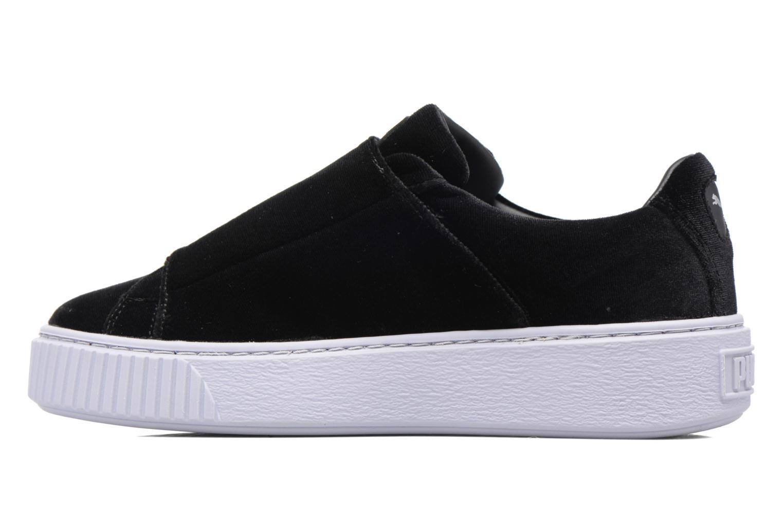 Sneakers Puma Wns Basket Platform S Vr.O Nero immagine frontale
