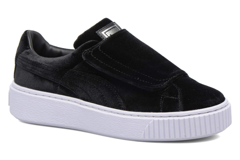 Sneakers Puma Wns Basket Platform S Vr.O Zwart detail