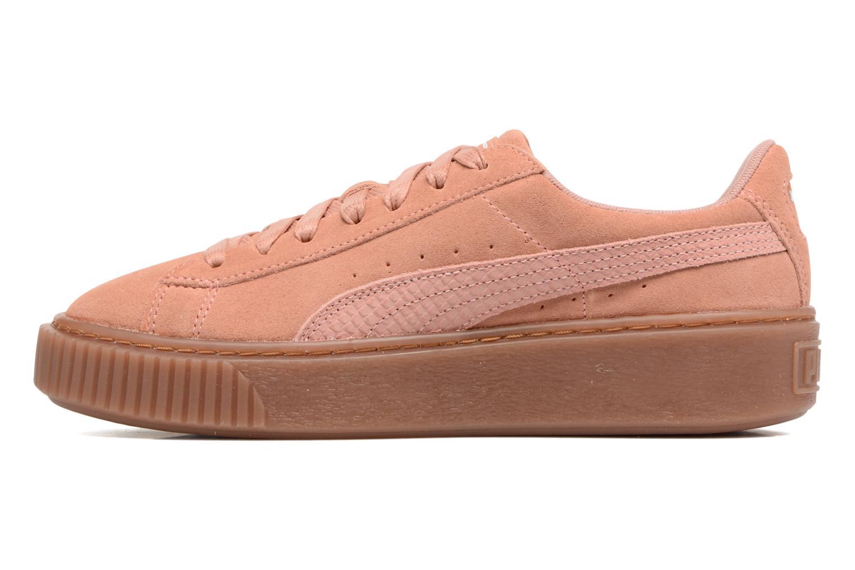 Sneakers Puma Wns Suede Platform Gum.Cam Roze voorkant