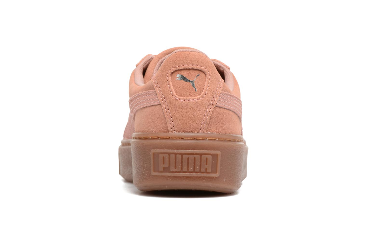 Trainers Puma Wns Suede Platform Gum.Cam Pink view from the right