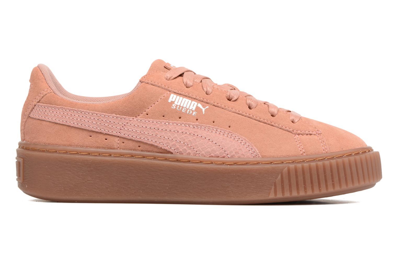 Sneakers Puma Wns Suede Platform Gum.Cam Roze achterkant