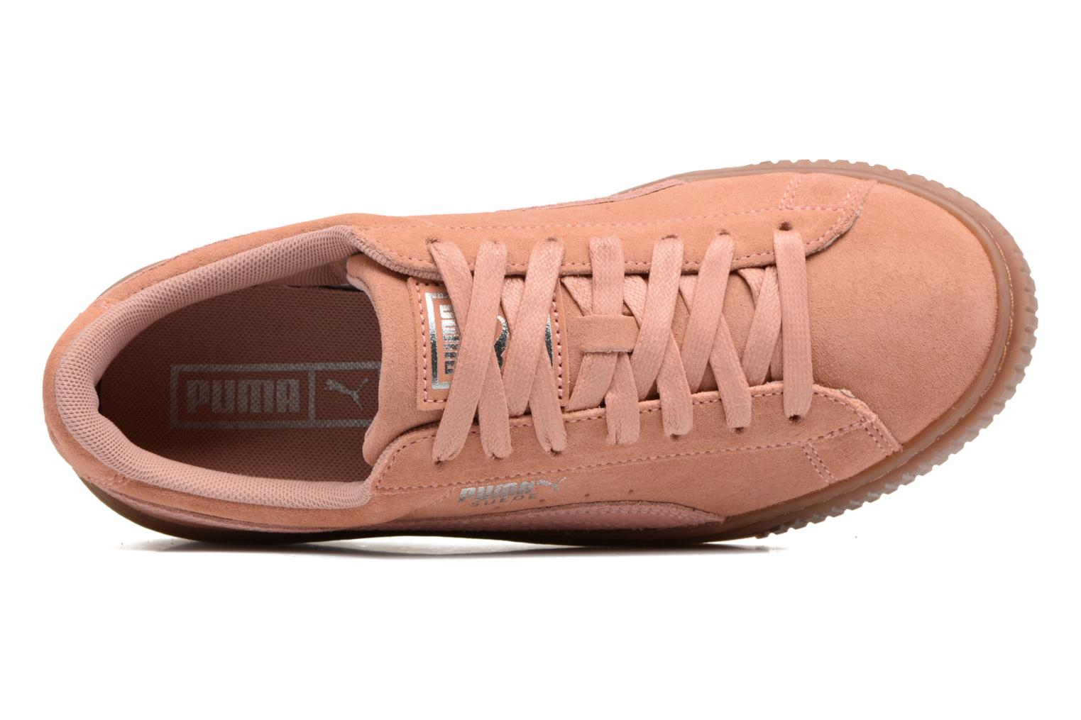 Trainers Puma Wns Suede Platform Gum.Cam Pink view from the left