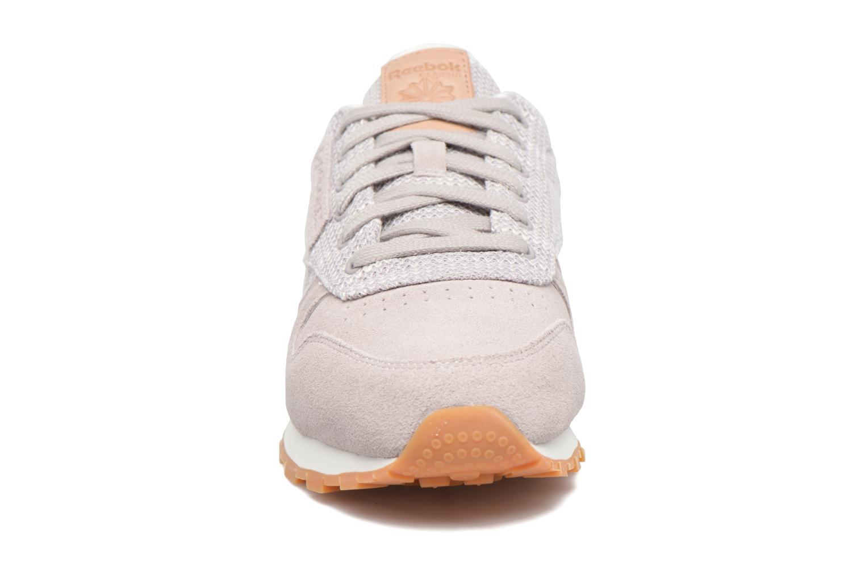 Baskets Reebok Cl Leather Ebk Gris vue portées chaussures