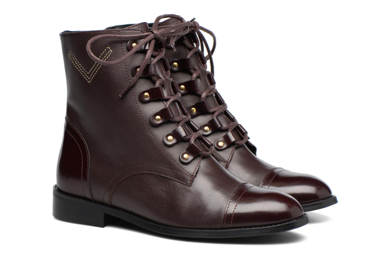 lisse Cuir Made 17 bordeaux by Camp SARENZA Boots qXwRqYr