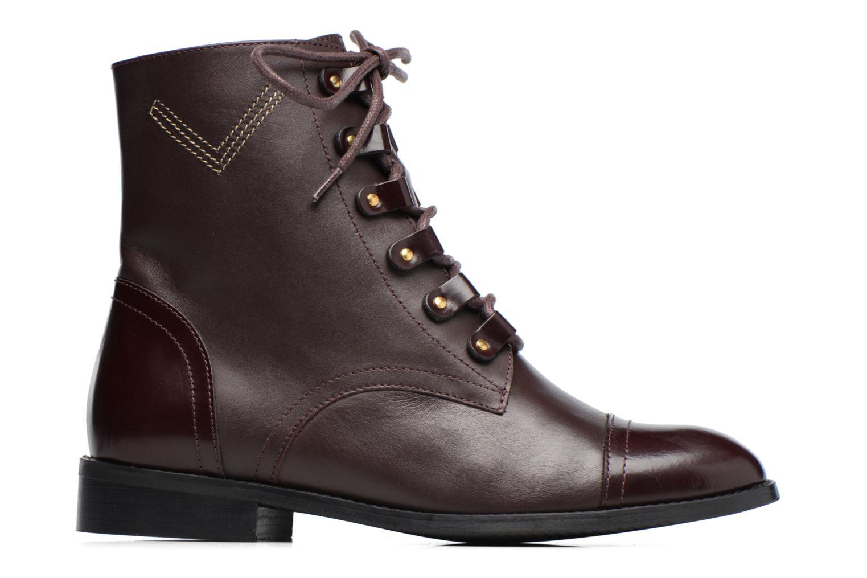 Boots Camp #17 Cuir lisse bordeaux
