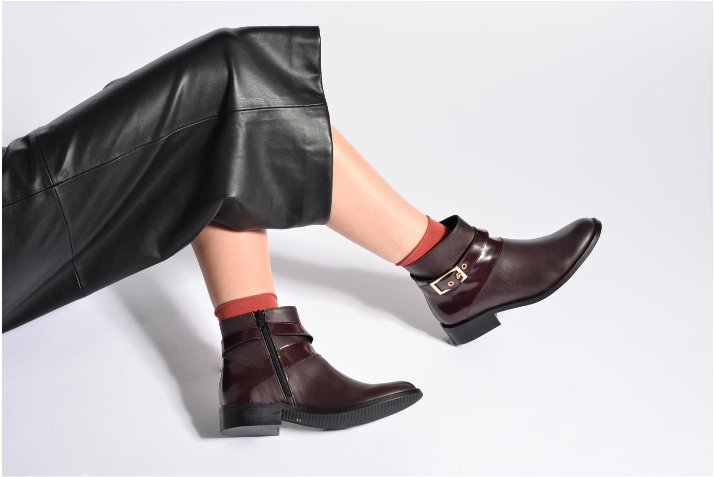 Bottines et boots Made by SARENZA Boots Camp #23 Bordeaux vue bas / vue portée sac
