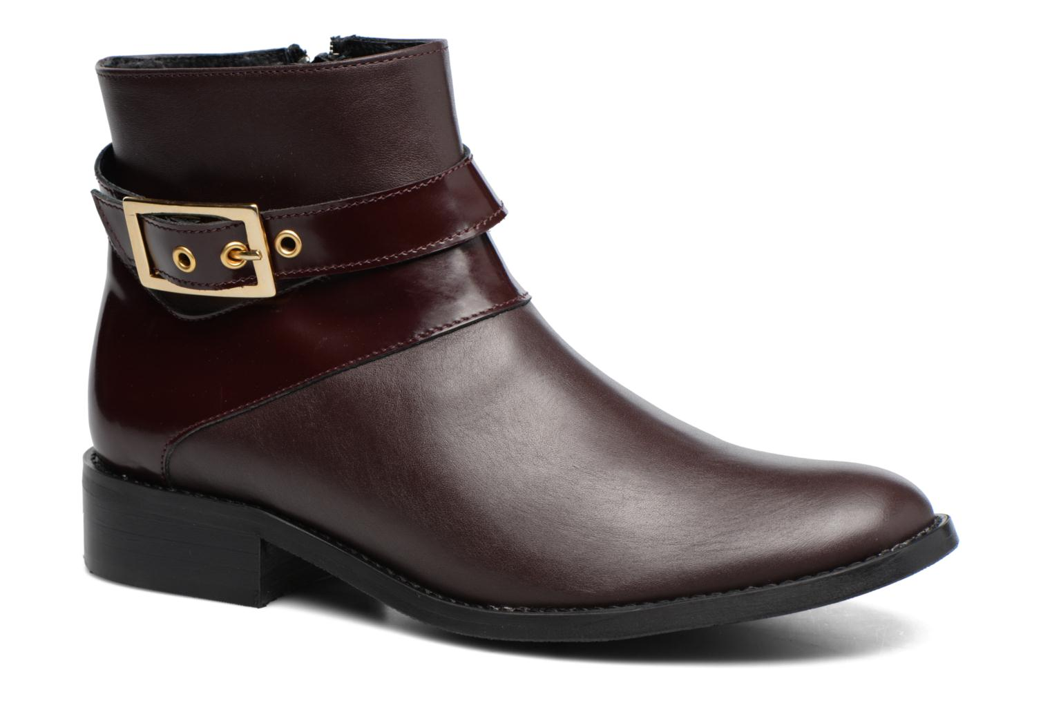 Ankle boots Made by SARENZA Boots Camp #23 Burgundy view from the right