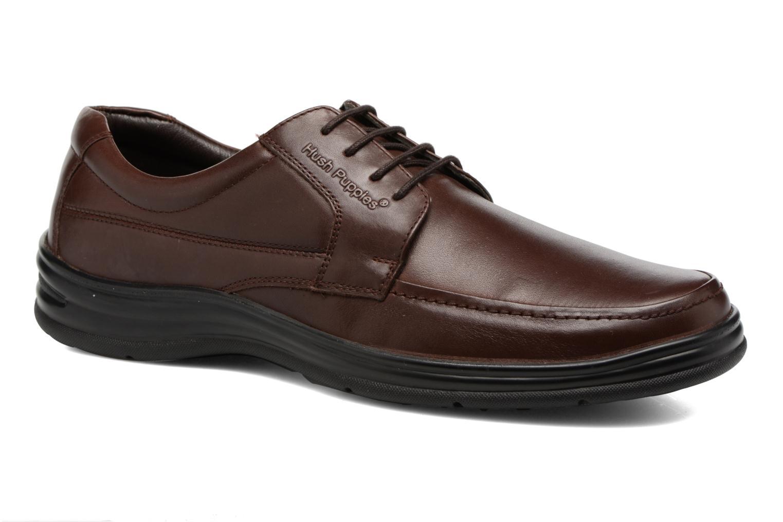 Chaussures à lacets Hush Puppies Cobi Marron vue détail/paire