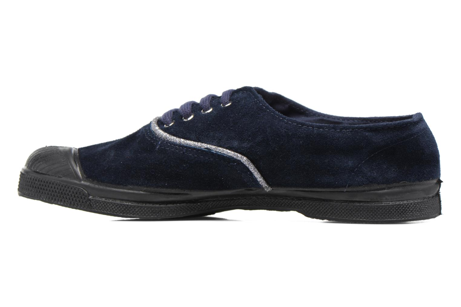 Trainers Bensimon Tennis Suedpiping F Blue front view