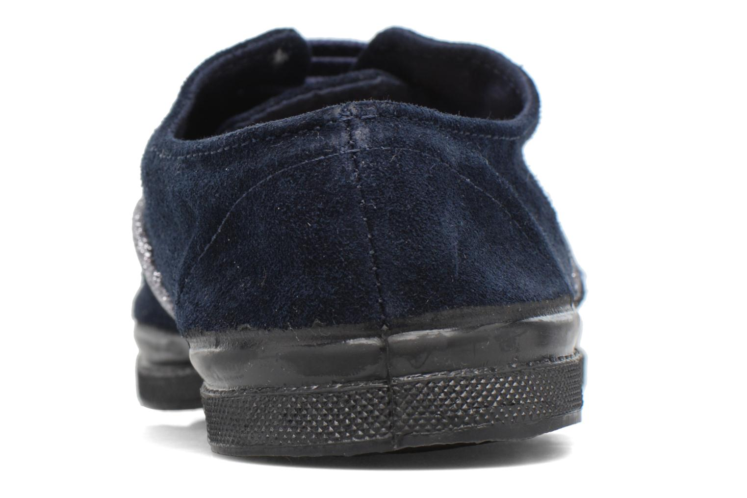 Trainers Bensimon Tennis Suedpiping F Blue view from the right
