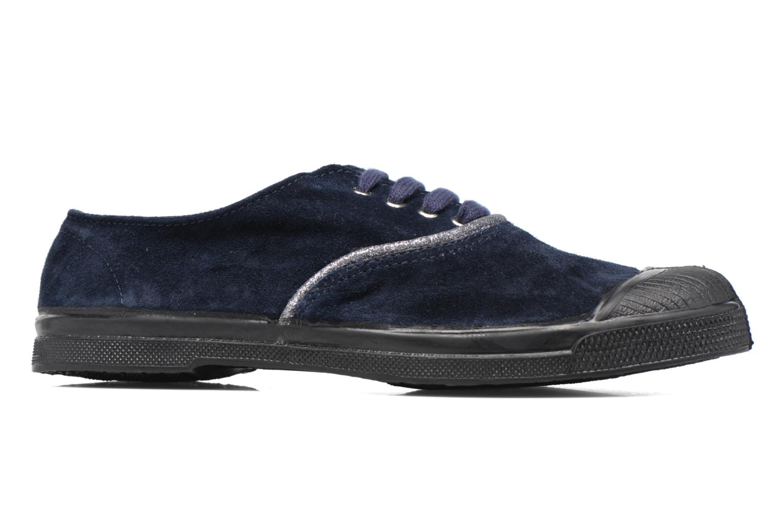 Trainers Bensimon Tennis Suedpiping F Blue back view