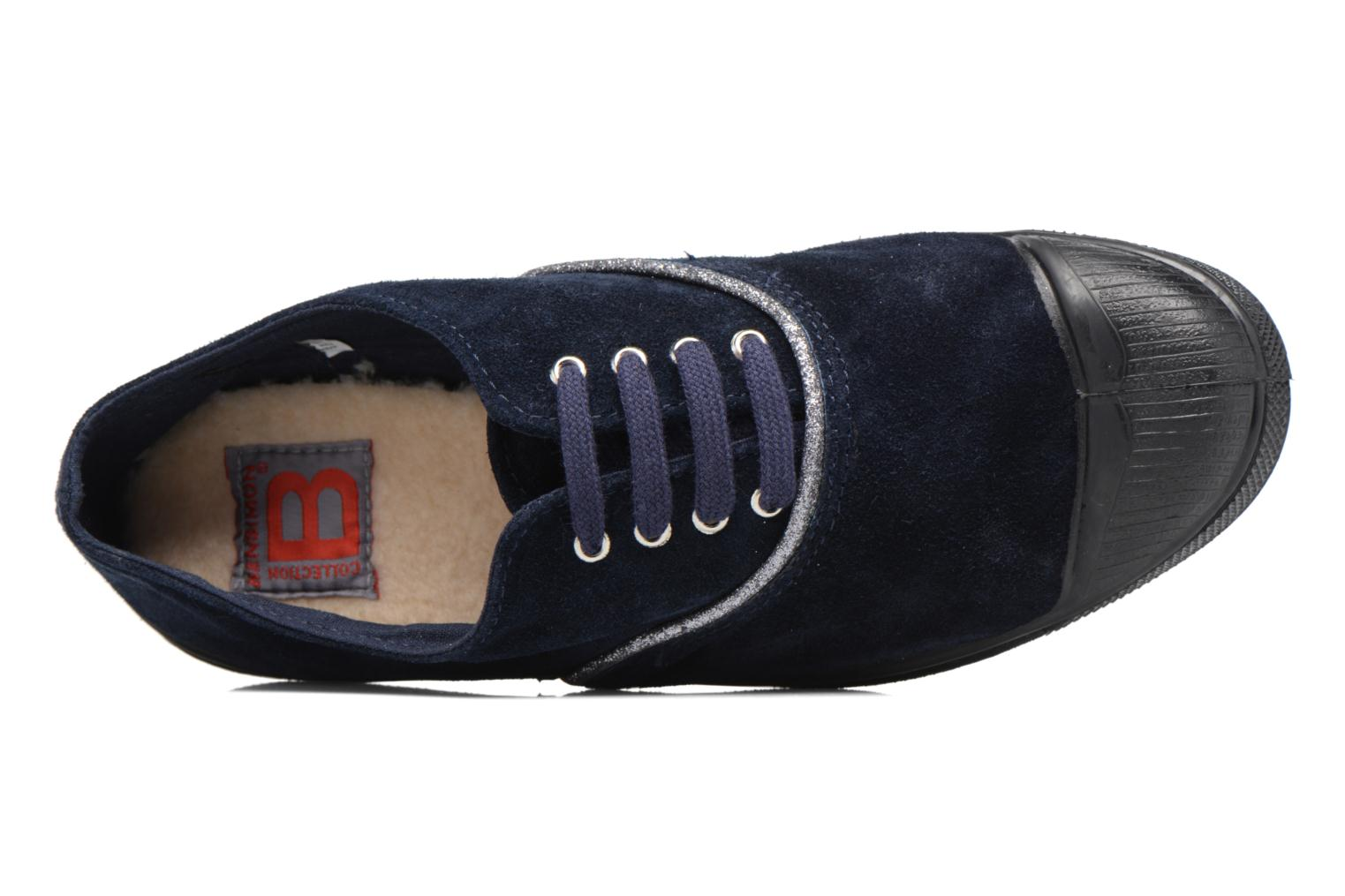Trainers Bensimon Tennis Suedpiping F Blue view from the left