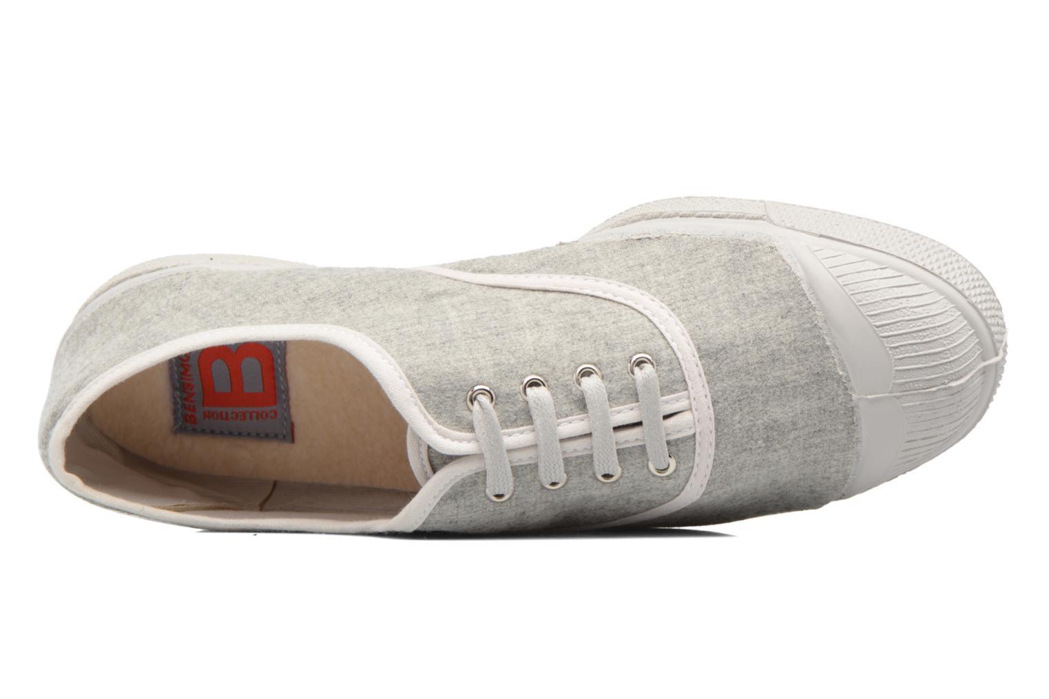 Trainers Bensimon Tennis Déperlantes Grey view from the left