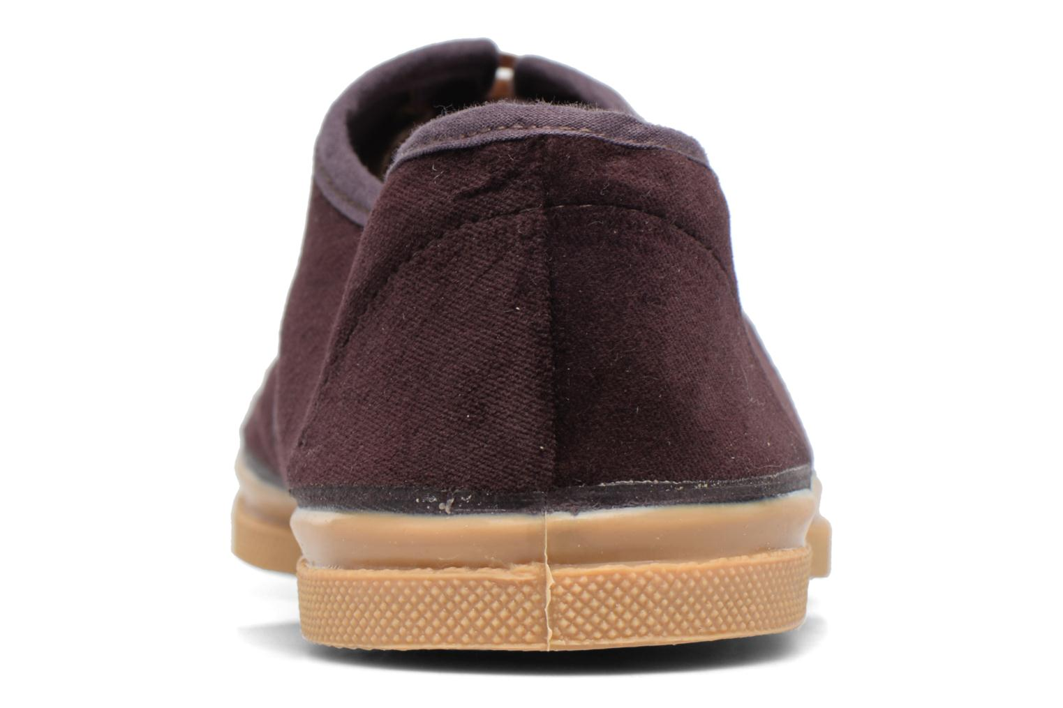 Trainers Bensimon Tennis Velvet Burgundy view from the right