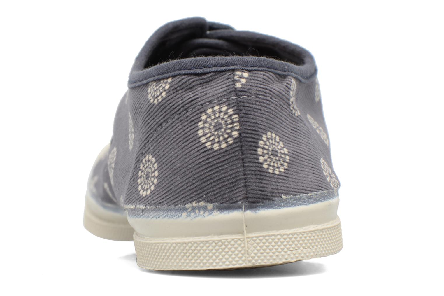 Trainers Bensimon Tennis Corduroy Grey view from the right
