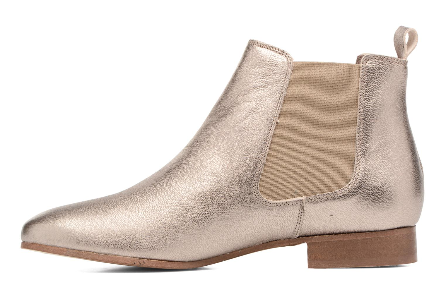 Ankle boots Bensimon Boots Chelsea Bronze and Gold front view
