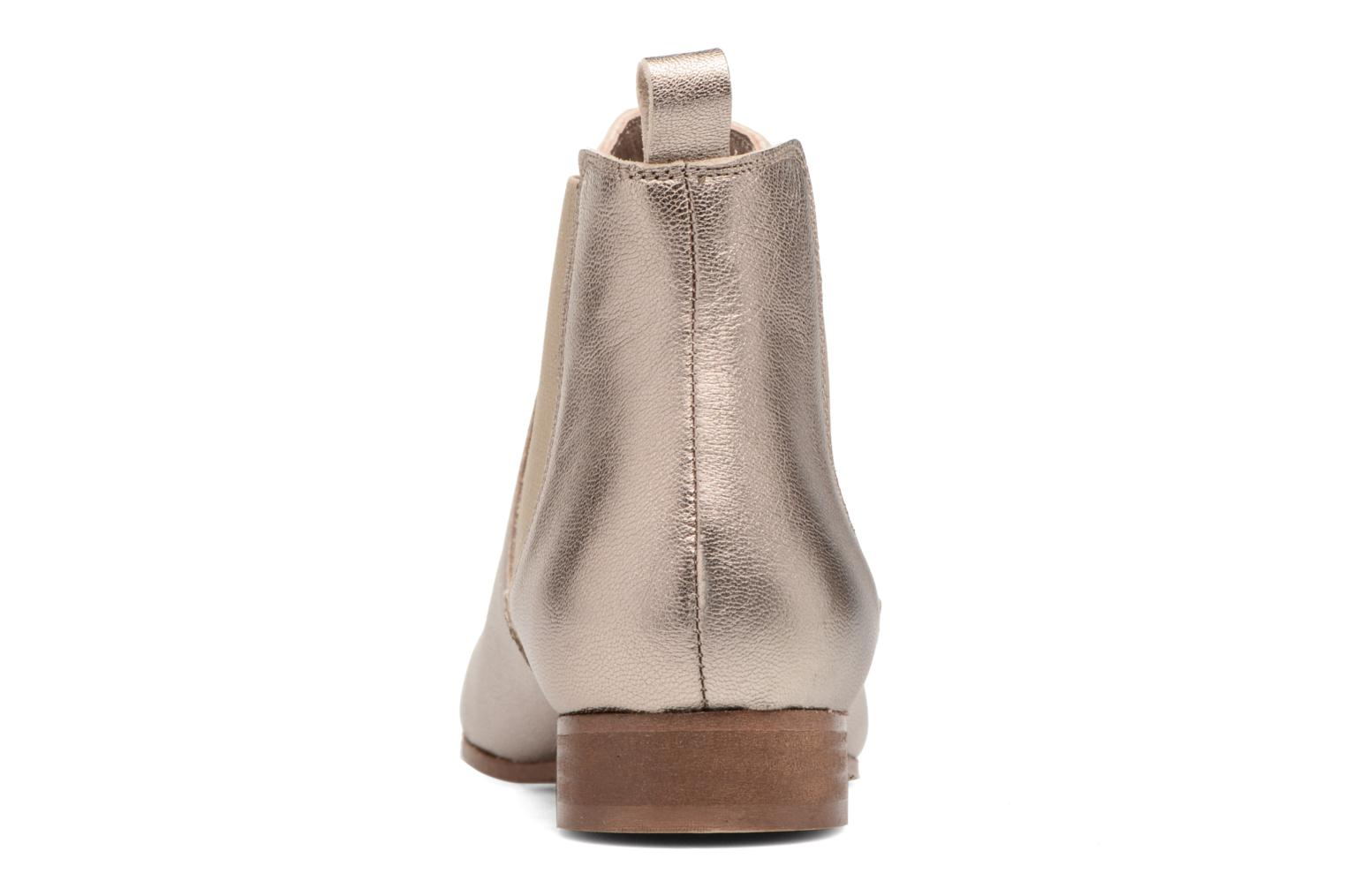 Ankle boots Bensimon Boots Chelsea Bronze and Gold view from the right