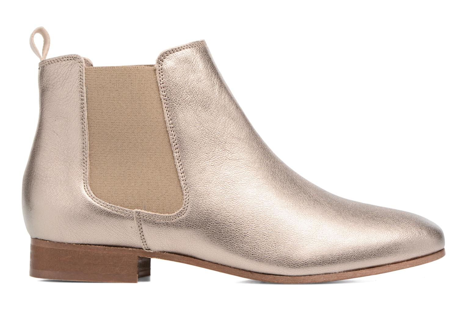 Ankle boots Bensimon Boots Chelsea Bronze and Gold back view