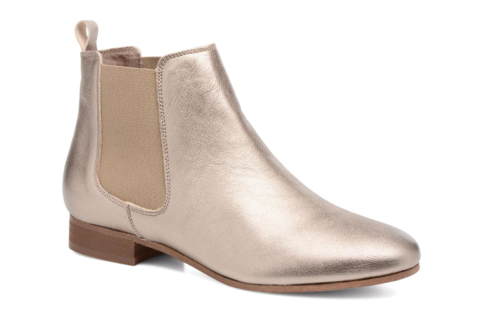 Ankle boots Bensimon Boots Chelsea Bronze and Gold detailed view/ Pair view
