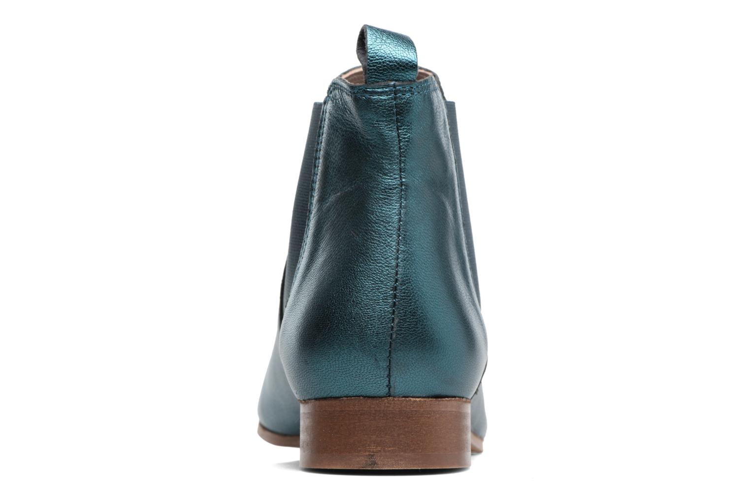 Ankle boots Bensimon Boots Chelsea Green view from the right