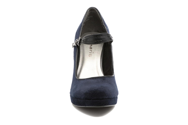 Escarpins Tamaris Amandil Bleu vue portées chaussures