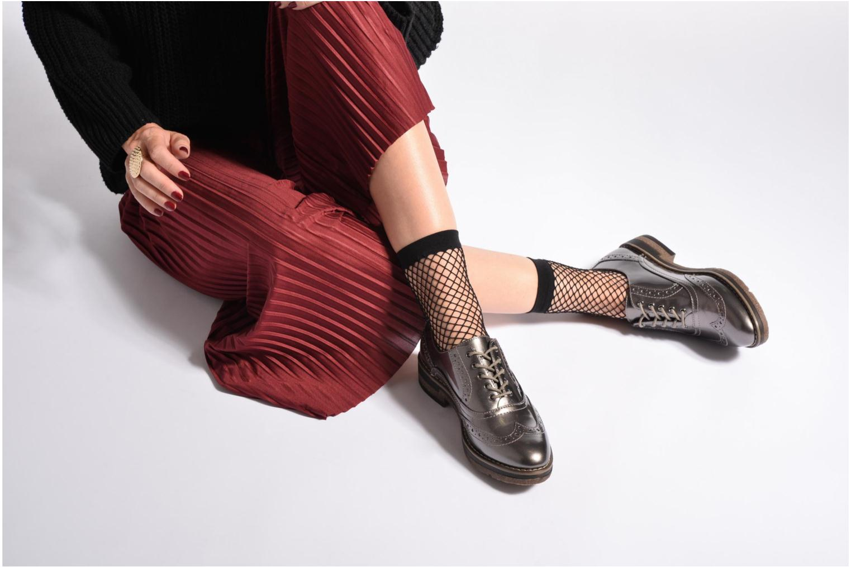 Chaussures à lacets Tamaris Mya Gris vue bas / vue portée sac