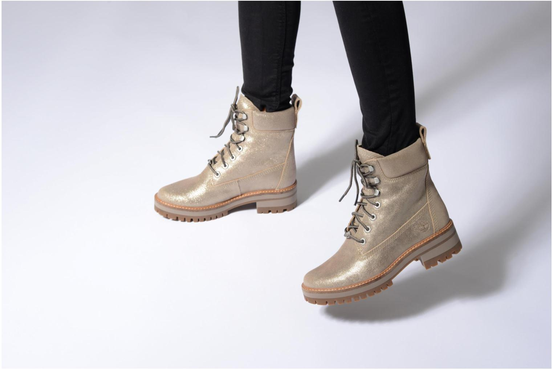 Stiefeletten & Boots Timberland Courmayeur Valley Yellow Boot gold/bronze ansicht von unten / tasche getragen