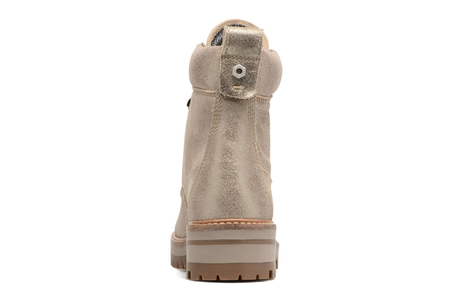 Botines  Timberland Courmayeur Valley Yellow Boot Oro y bronce vista lateral derecha