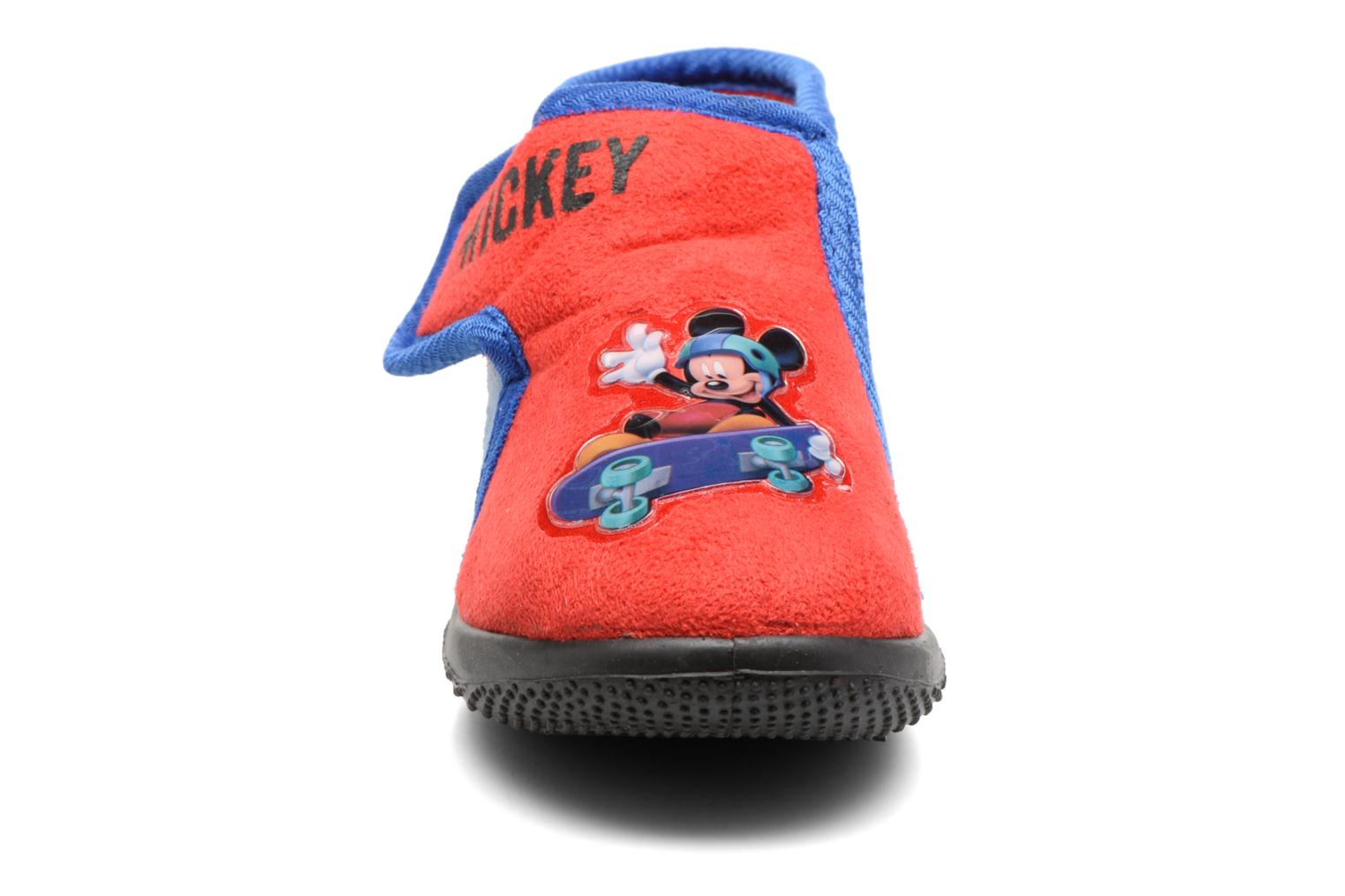 Chaussons Mickey Roualec Rouge vue portées chaussures