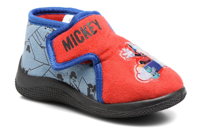 Chaussons Mickey Roualec Rouge vue détail/paire