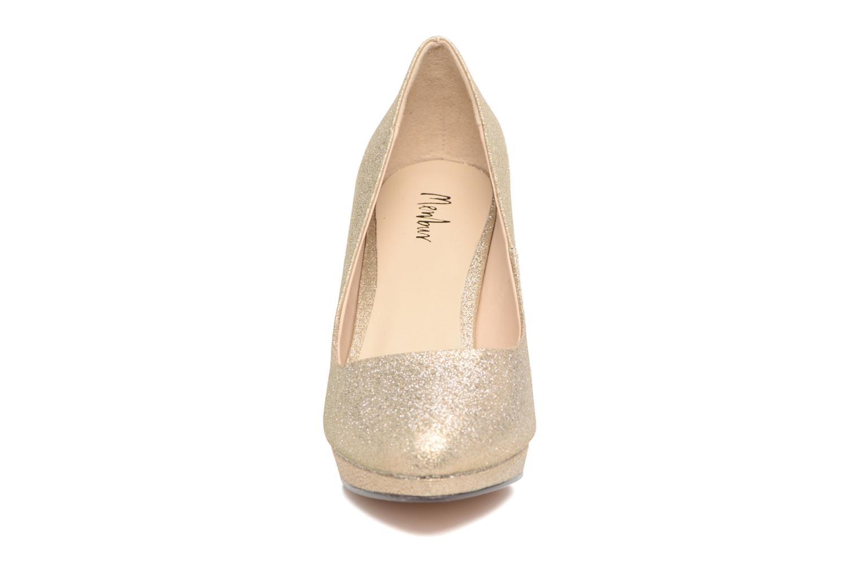 Escarpins Menbur Yedra Or et bronze vue portées chaussures